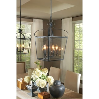 Lockheart 4-light Clear Glass Shade Hall/ Foyer Lantern