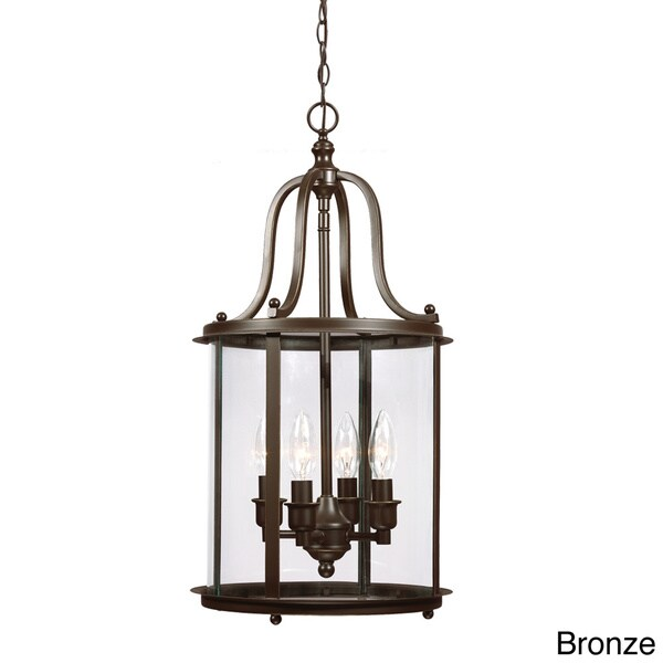 Foyer Lighting Overstock : Gillmore light clear glass shade hall foyer lantern