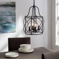 Turbinio Blacksmith Steel 6-light Hall and Foyer Lantern