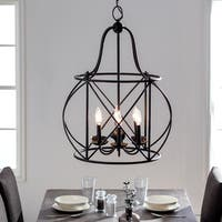 Sea Gull Lighting Turbinio Blacksmith Finish Steel 4-light Hall Foyer Lantern