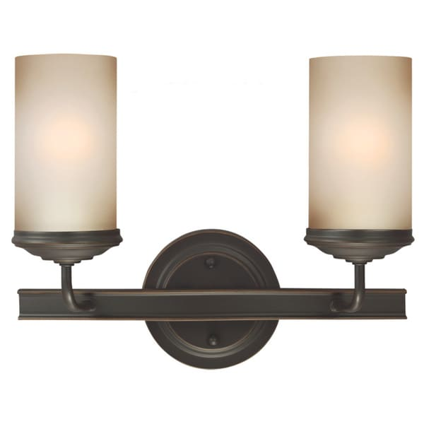 Bathroom Sconces Overstock sfera autumn bronze and smokey amber glass 2-light wall/ bath