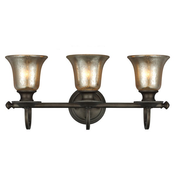 Blayne Platinum Oak/ Mercury Glass 3-light Wall/ Bath Vanity Fixture - Free Shipping Today ...