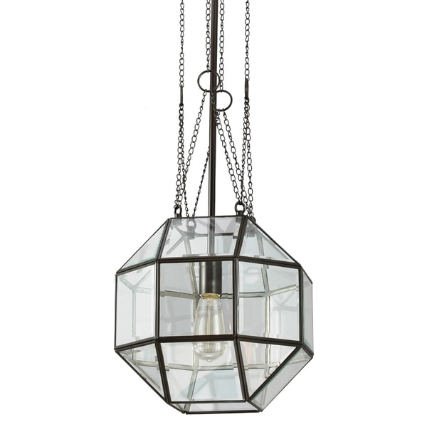 Lazlo Medium 1-light Heirloom Bronze/ Clear Beveled Glass Pendant