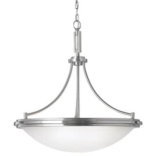 Winnetka 4-light Brushed Nickel/ Satin Etched Glass Pendant