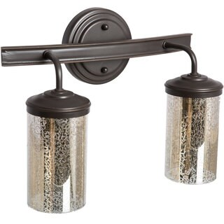 Sfera 2-light Autumn Bronze/ Mercury Glass Vanity Fixture