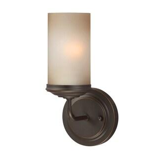 Sfera 1-light Autumn Bronze/ Smoky Amber Glass Wall Sconce