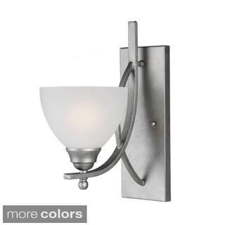 Vitelli 1-light Satin Etched Glass Shade Bath/ Wall Sconce