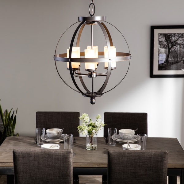 orb pendant light sfera 6 light autumn bronze chandelier free shipping today overstock com