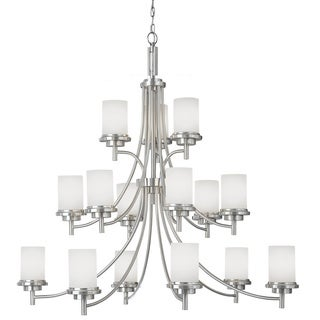 Winnetka 15-light Brushed Nickel Multi-tiered Chandelier