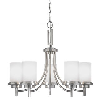 Winnetka 5-light Brushed Nickel Multi-tiered Chandelier