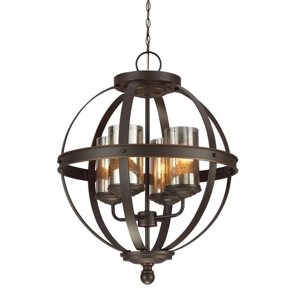 Shop Sfera 4-light Autumn Bronze Mercury Glass Chandelier
