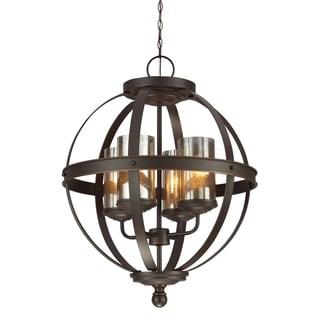 Sfera 4-light Autumn Bronze Mercury Glass Chandelier