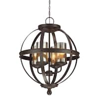 Sfera 4-light Autumn Bronze Mercury Glass Chandelier