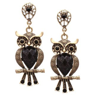 Large Antiqued Black Crystal Wise Owl Dangle Earrings|https://ak1.ostkcdn.com/images/products/8932695/P16147405.jpg?impolicy=medium