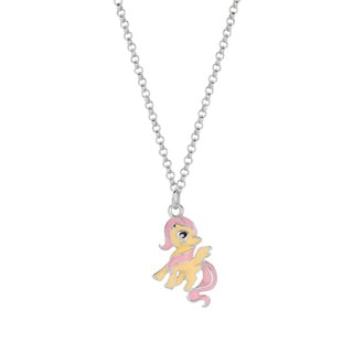 Fine Silverplated Fluttershy My Little Pony Pendant Necklace