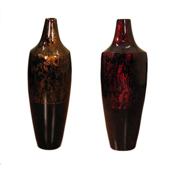 Tall Lacquer 28-inch Pod Vase and Branches
