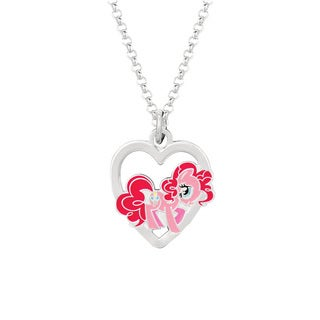 Fine Silver Plated Pinkie Pie in Heart My Little Pony Pendant Necklace|https://ak1.ostkcdn.com/images/products/8932723/P16147428.jpg?_ostk_perf_=percv&impolicy=medium