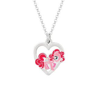 Fine Silver Plated Pinkie Pie in Heart My Little Pony Pendant Necklace|https://ak1.ostkcdn.com/images/products/8932723/P16147428.jpg?impolicy=medium
