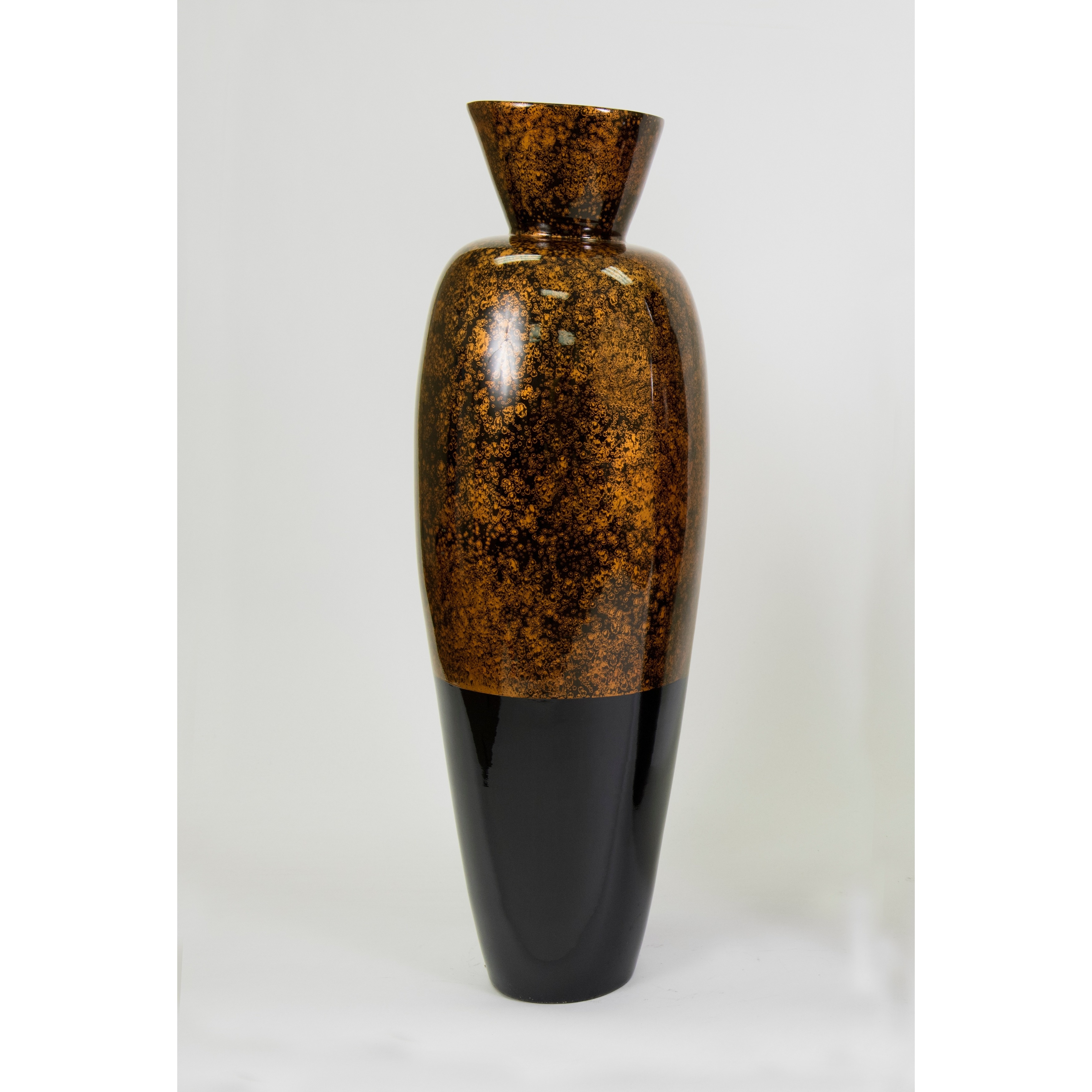 Tall lacquer inch bamboo vase and branches ebay