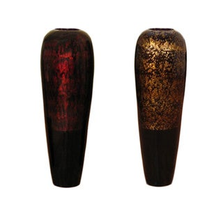 Tall Lacquer Bamboo 28-inch Vase and Branches