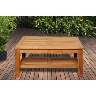 Shop Amazonia Teak San Francisco Teak Wood Coffee Table ...