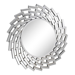 Somette Round Modern Wall Mirror