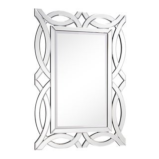Somette Rectangular Arch Modern Wall Mirror - Silver