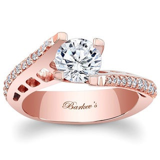 Barkev's Designer 14k Rose Gold 3/4ct Diamond Engagement Ring