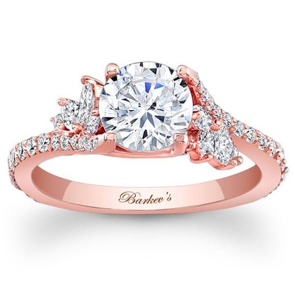 Barkev's Designer 14k Rose Gold 1 1/3ct TDW Diamond Engagement Ring