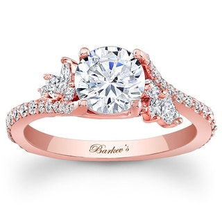 Barkev's Designer 14k Rose Gold 1 1/3ct TDW Diamond Ring (F-G, SI1-SI2)