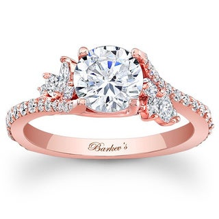 Barkev's Designer 14k Rose Gold 1 1/3ct TDW Diamond Engagement Ring (Option: 7.75)