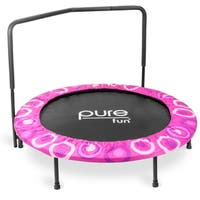 Pure Fun Super Jumper Kids Pink Mini Trampoline