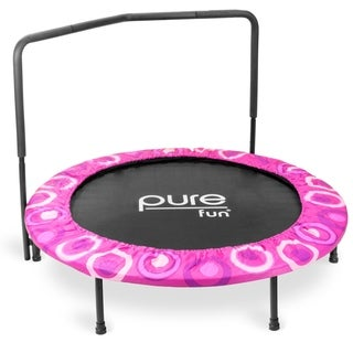 Pure Fun Super Jumper Kids Pink Mini Trampoline