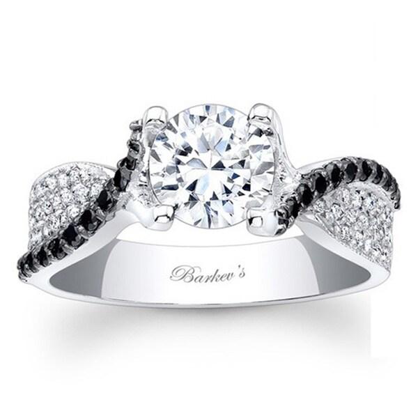 Barkev's Designer 14k White Gold 1 1/8ct TDW Black/ White Diamond Ring