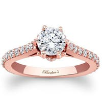 Barkev's Designer 14k Rose Gold 1 1/3ct TDW Diamond Ring SI1-SI2)