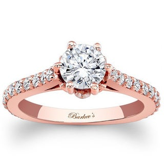 Barkev's Designer 14k Rose Gold 1 1/3ct TDW Diamond Ring SI1-SI2) (More options available)