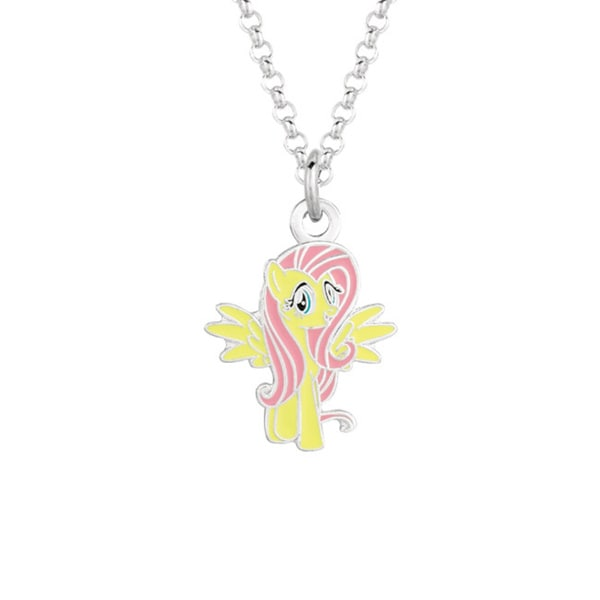 Fine Silver Plated Fluttershy My Little Pony Pendant Necklace