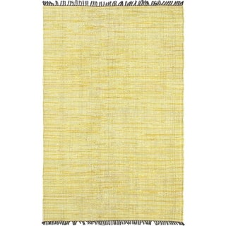 Braided Sienna Light Yellow Cotton Rug - 5' x 7'