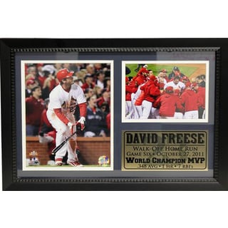 MLB 2011 World Series MVP David Freese Photo Stat Frame