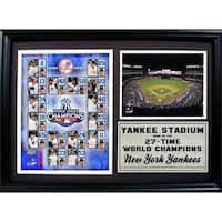 MLB 2009 New York Yankees World Series Champions Photo Stat Frame
