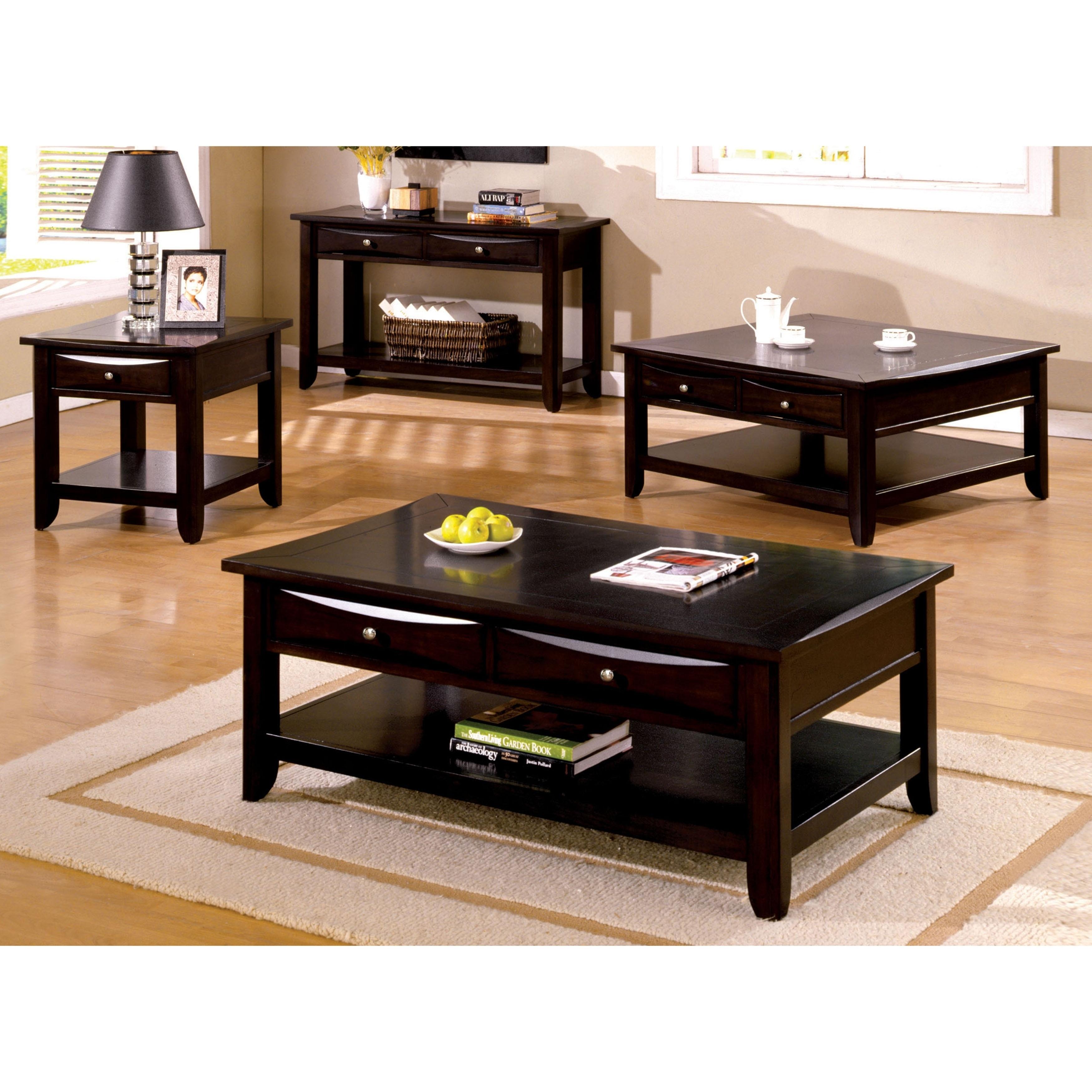 Excellent Furniture Of America Buldgewin Espresso 2 Drawer Sofa Table Ibusinesslaw Wood Chair Design Ideas Ibusinesslaworg