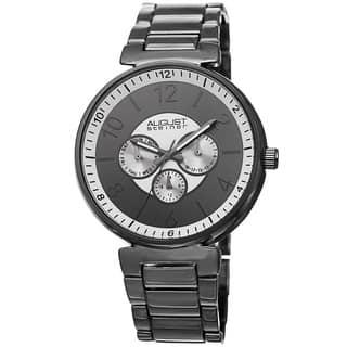 August Steiner Men's Quartz Multifunction Black Bracelet Watch with FREE GIFT|https://ak1.ostkcdn.com/images/products/8933037/August-Steiner-Mens-Quartz-Multifunction-Bracelet-Watch-P16147706.jpg?impolicy=medium