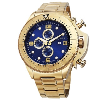 Akribos XXIV Men's Chronograph Stainless Steel Gold-Tone Bracelet Watch