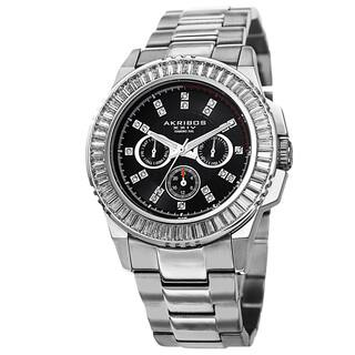 Akribos XXIV Men's Diamond Stainless Steel Silver-Tone Bracelet Watch with FREE GIFT (Option: Silver)|https://ak1.ostkcdn.com/images/products/8933094/Akribos-XXIV-Mens-Genuine-Diamond-Stainless-Steel-Bracelet-Watch-P16147737.jpg?impolicy=medium