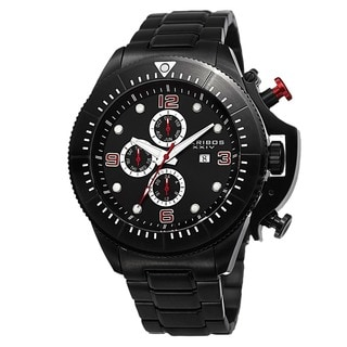 Akribos XXIV Men's Chronograph Stainless Steel Black Bracelet Watch