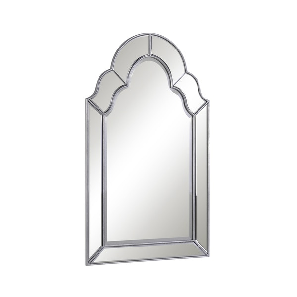 Somette Antique Rectangle Wall Mirror - Silver