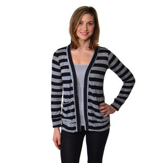 24/7 Comfort Apparel Women's Long Sleeve Button-front Cardigan