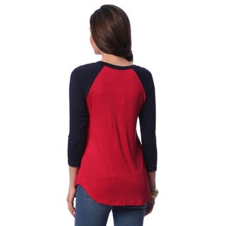 24/7 Comfort Apparel Women's Long Sleeve Raglan Top
