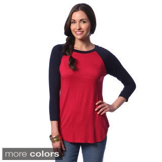 24/7 Comfort Apparel Women's Long Sleeve Raglan Top