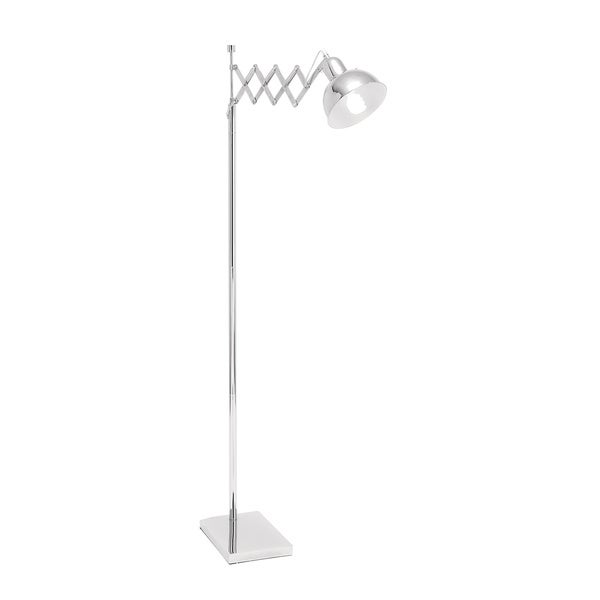 Classic Adjustable 1-light Polished Nickel Task Floor Lamp